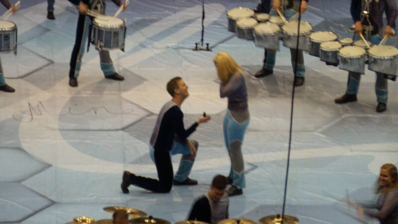 Two 2015 Matrix members getting engaged