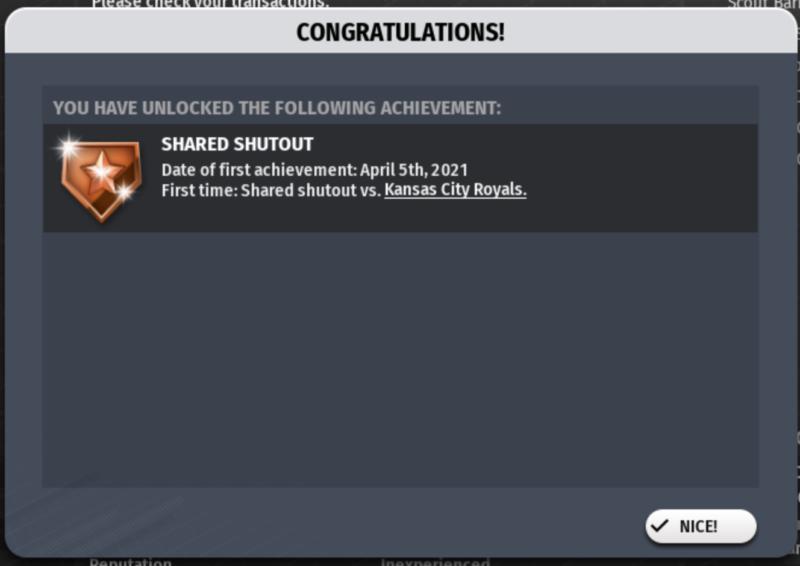 Game 4's achievement!