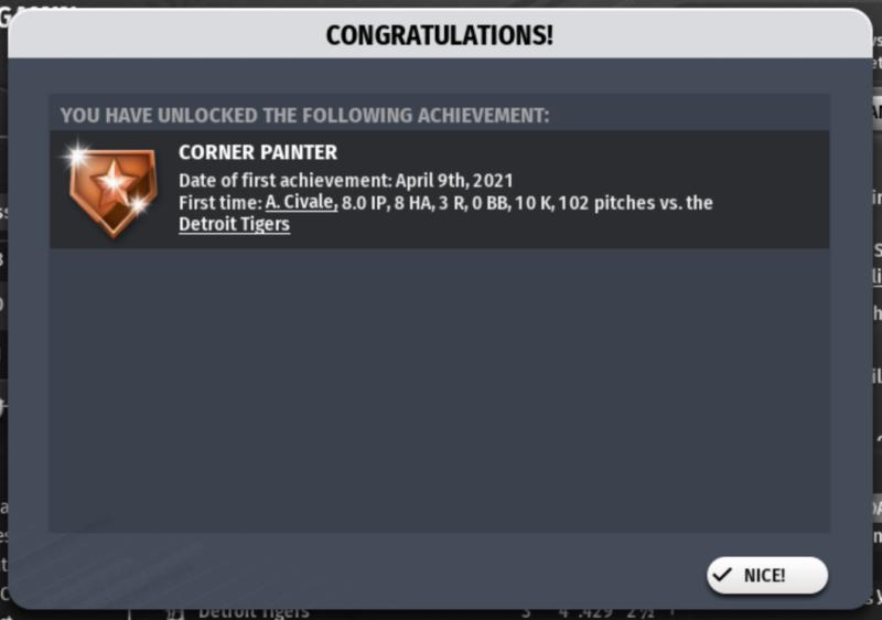 Game 6's achievement!
