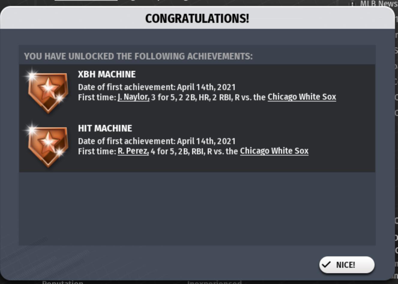 Game 11's achievements!