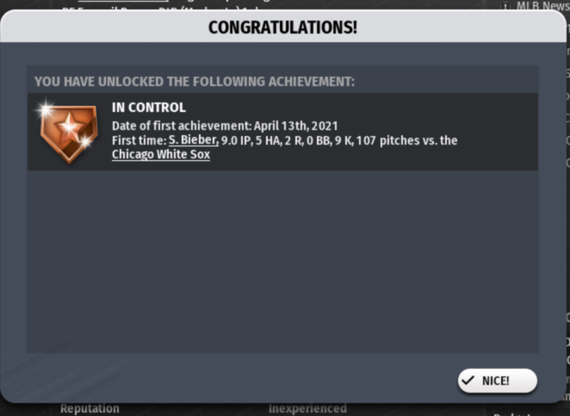 Game 10's achievement!